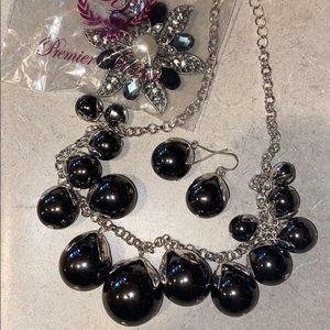 Black & Silver Jewelry Lot